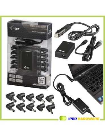 I-TEC Car Slim Metal Adapter 90W 1x USB +10 Notebook Acer Asus Dell HP IBM Lenov