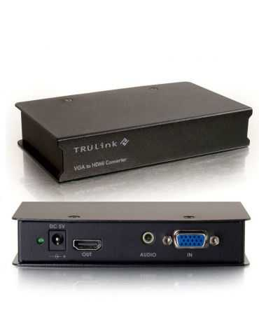 C2G VGA to HDMI Converter - Convertisseur Video - Noir …