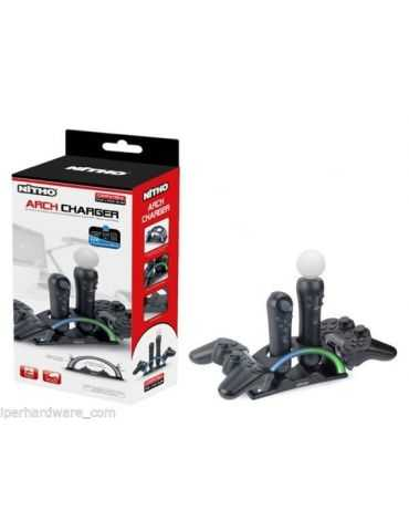 BASE DI RICARICA PER 2 JOYPAD ORIGINALI PS3 E 2 CONTROLLERS PS MOVE
