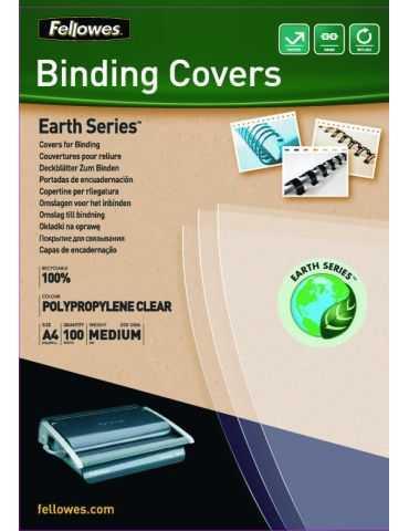 Fellowes Couvertures en Polypropylene Earth Series Transparentes A4 - Transparentes A4