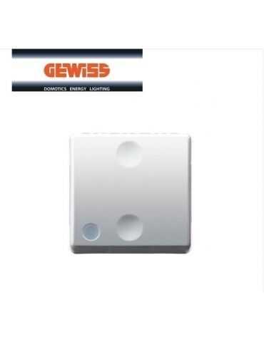 GEWISS GW20527  PULSANTE A TASTO LARGO 1P NA 10A 2 MODULI GEWISS