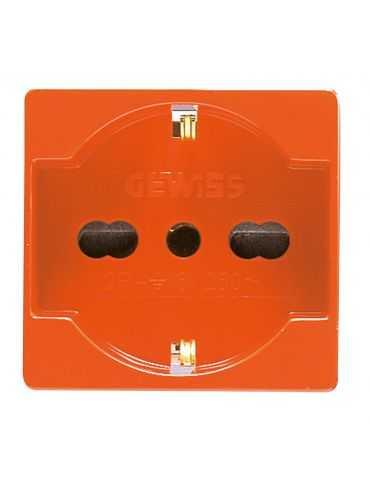Gewiss GW20287 Prise 2p+t 16a biv.st.italien/all.orange