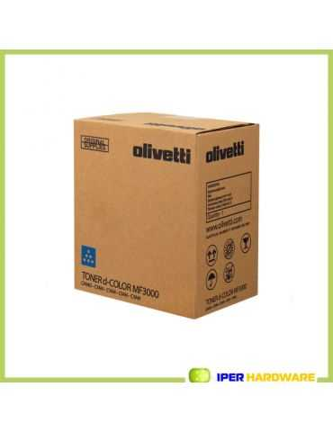 ORIGINALE OLIVETTI B0892 TONER D-COLOR MF3000 CIANO 6000 PG
