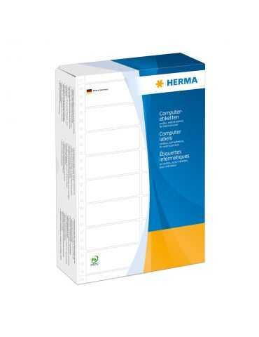 HERMA Étiquettes en continu 88.9x23.0 mm 2 rangées blanches papier mat 12000 pcs
