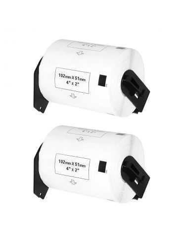 Logic-Seek Etichette per stampante Brother DK-1240 X2 ( 102 x 51 mm )