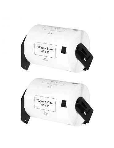Logic-Seek Étiquettes pour imprimantes Brother dk 11240 (02) - 2x DK11240 ( 102 x 51 mm )