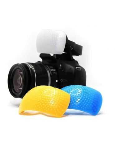 Diffuseur universel à 3 couleurs pour flash intégré REPORTER cod.55050