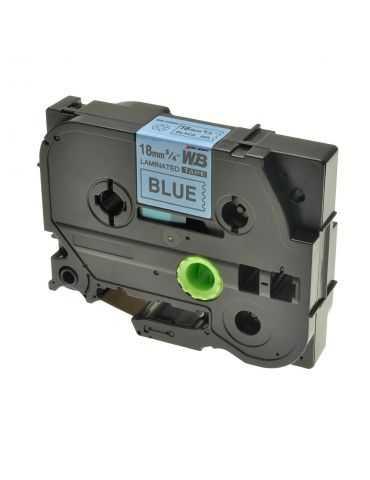 Logic-Seek 1x ruban encreur pour imprimante Brother TZE141 TZE-541noir sur bleu 18mmX8m
