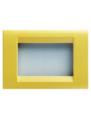 Gewiss GW32586 PLAQUE PLAYBUS - 6 MODULES - JAUNE MAIS - PLAYBUS