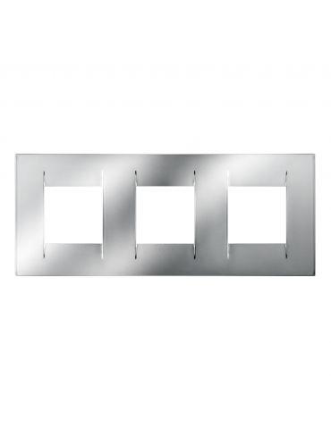 Gewiss GW16426MC PLACCA GEO INTERNATIONAL METAL 6 POSTI ORIZZONTALE CROMO CHORUS