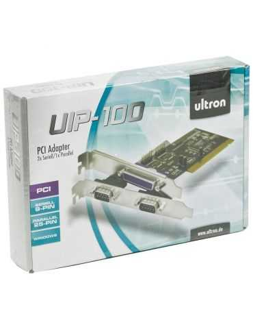 Ultron UIP-100 - Carte PCI 2 x Serial 1 x Parallel série/parallèle - 2 ports + Parallel (1x)