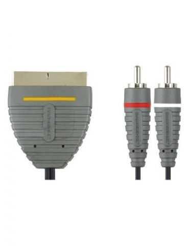 Bandridge BVL5802 Câble vidéo stéréo 2 RCA M SCART 2 m