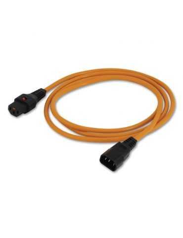 Lindy Rallonge électrique IEC avec Dispositif de Verrouillage Orange 2 m