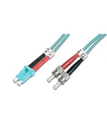 M-CAB LWL Duplex LC/St - 15m LC St - câbles de Fibre Optique (LC, St, Mâle/Mâle, OFNR)