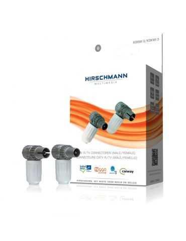 Kit de connecteurs à 90° d'antennes IEC CONNECTORS (M/F) HIRSCHMANN