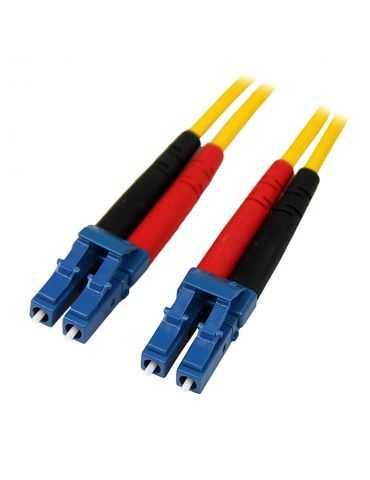 StarTech Câble Fibre Optique LC/LC Duplex Monomode 9/125 LSZH - Jaune 4 m