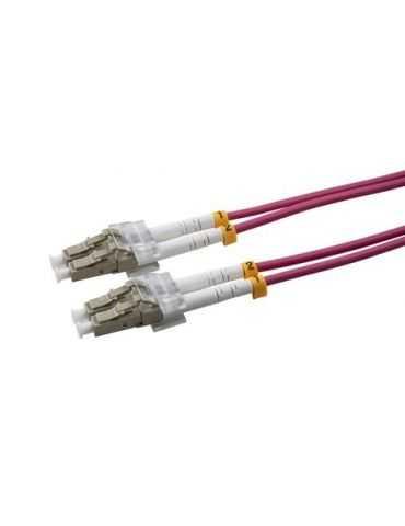 M-Cab câble de Fibre Optique 10 m OM4 LC Violet OM4 LC/LC Male /Male