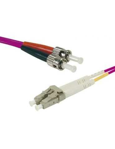 M-CAB 3m câble de Fibre Optique LC/St Mâle/Mâle, 50 µm, 125 µm, Violet