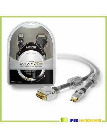 Techlink Wires Câble XS302 Premium bidirectionnel HDMI-DVI 2 m or 24K
