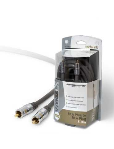 Techlink CR68 Câble Premium prise RCA/Phono à Fiche RCA/Phono 5m