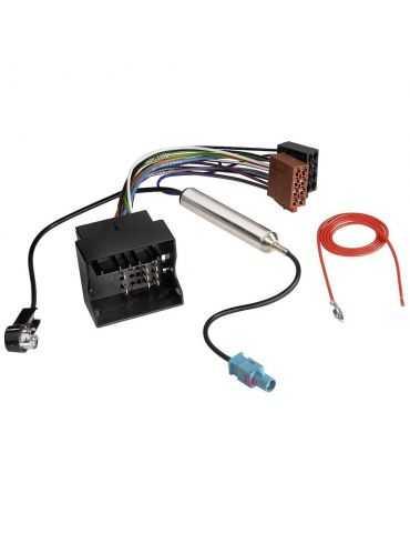 Hama Adaptateur ISO automobile avec alimentation fantôme Audi, Seat, Skoda, VW