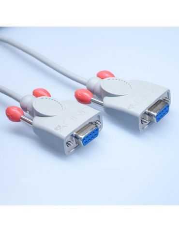 Câble Sub-D9 femelle vers Sub-D9 femelle 2m pour lecteur de cartes Praxis