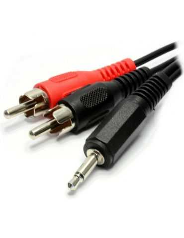 Conceptronic Câble audio RCA phono (M) - fiche miniphone Stéréo 3,5 mm (M) - 3 m