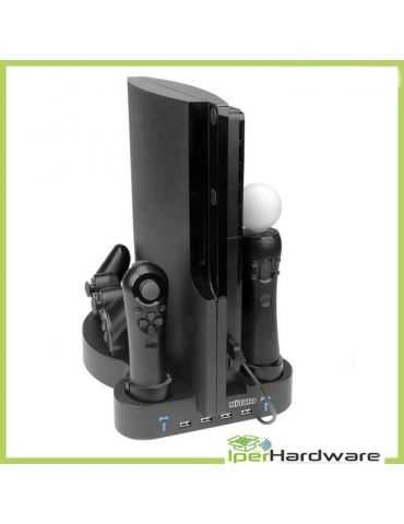 BASE DE RECHARGE PS3 SLIM DOCKING STATION 3 IN 1 playstation 3 STAND NITHO