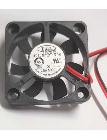 T&T 4010M12F ND6 DC12V 0.14A 4010 4CM 40MM 40X40X10MM 2pin Cooling Fan