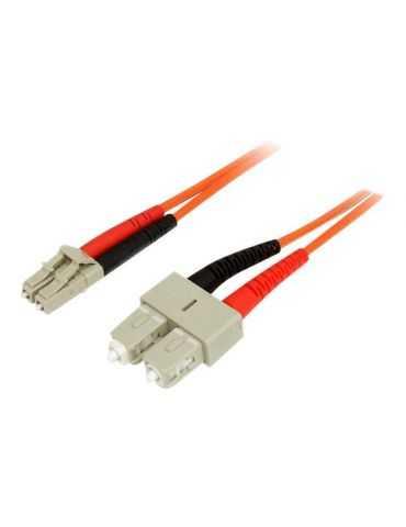 M-Cab 7000832 fiber optic cable 5 m OM2 LC SC Orange,Multicolour