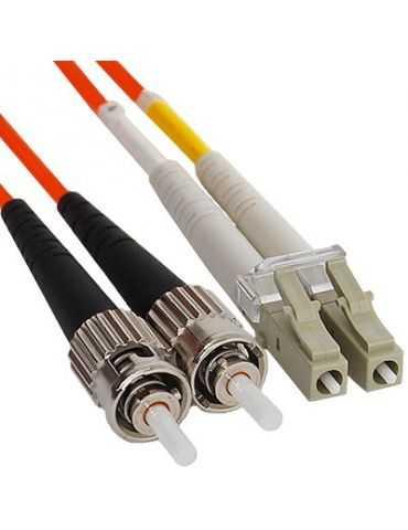 M-CAB LC - St 7.5m câble de Fibre Optique (LC, St, Mâle/Mâle, 50 µm, 125 µm, Orange)
