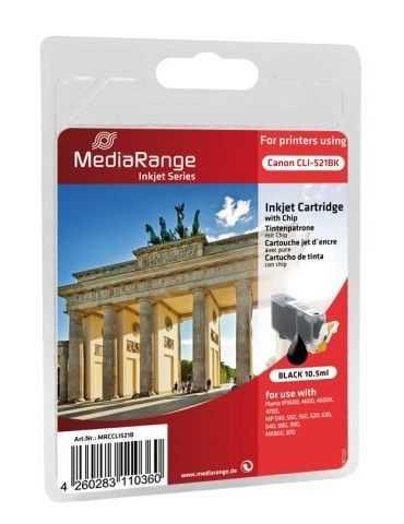 Cartuccia d'inchiostro MediaRange per Canon CLI-521BK NERO 10,5 ml