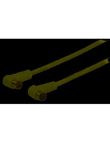 Câble d'antenne coaxial à connecteur coaxial mâle coudé vers coaxial femelle