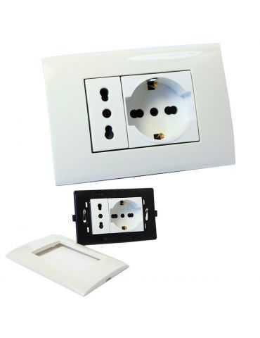 Prise électrique Universelle Bypass et Schuko encastrable boîte 503