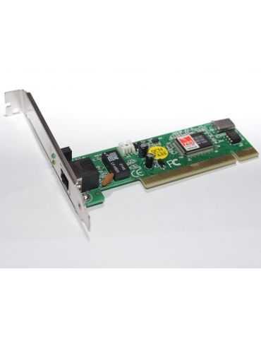 Sidinet Carte Réseau Adaptateur PCI vers 1 Port Ethernet 10/100