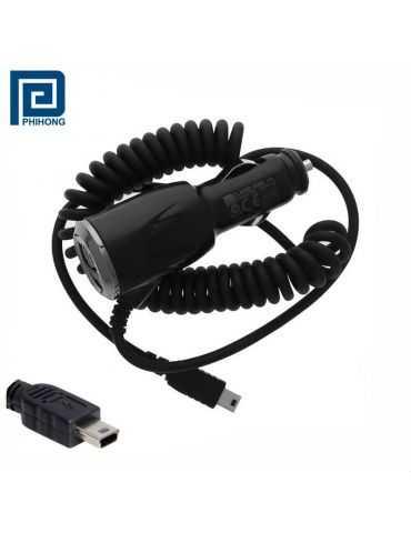 caricabatterie da auto Mini-USB Phihong CLA05D-050A Motorola HTC Garmin