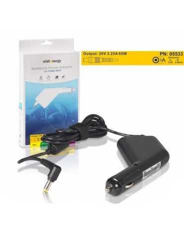 Alimentation d'ordinateur portable de voitures Whitenergy 5.5x2.5mm 20V / 3.25A 65W