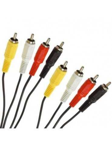 Cable RCA 1,2 m 4 rca mâle vers 4 rca mâle cable Hama 043318
